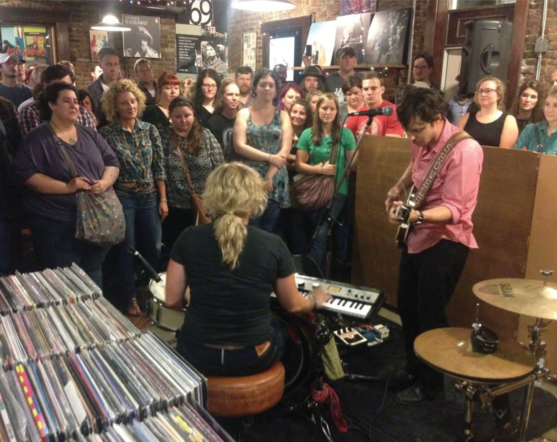 A midnight in-store performance at Grimey's New and Preloved Music in Nashville, on the eve of the release of Swimmin' Time in 2014