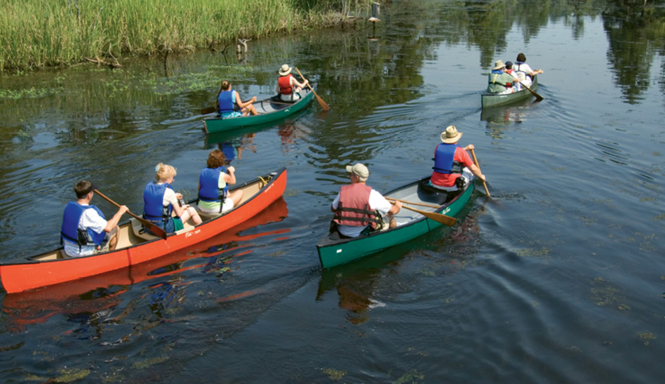 1. Paddling at Old Santee Canal Park