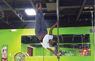 """Defying Gravity: """"I used to teach pole dancing. I'm looking forward to getting back into that when I have a little more life balance."""""""