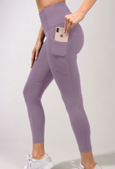 """A Leg Up: """"Yogalicious makes the best running pants, all with pockets. I can slide my phone in my pocket, pop in my earbuds, and take off on a trail or down the beach."""""""