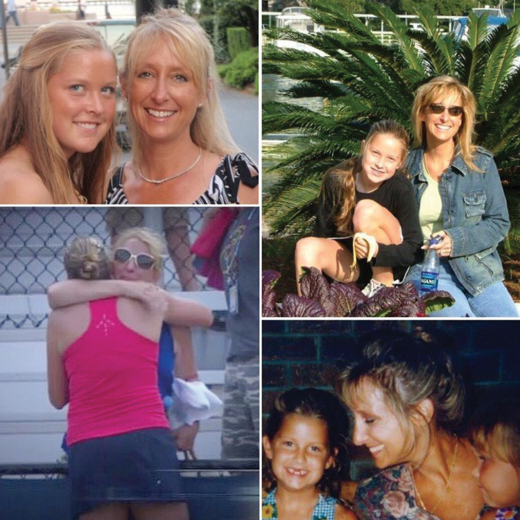 "A birthday collage for her mom, Starley, ""the strongest woman I know!"""
