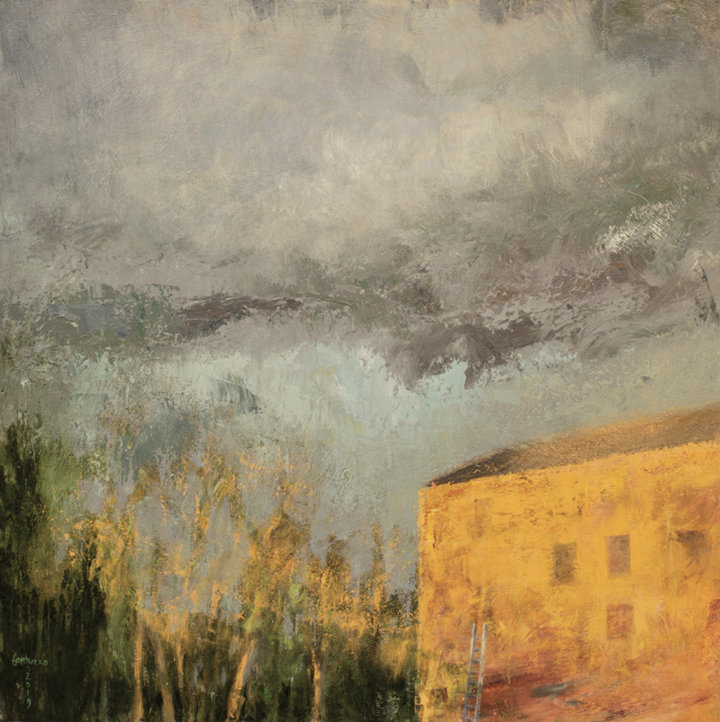 Transitions (acrylic on canvas, 40 x 40 inches, 2019)