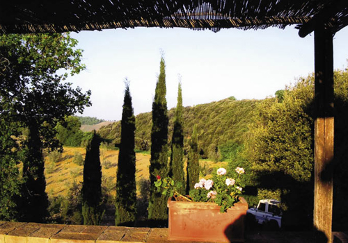 """In Tuscany, Massi and Natasha typically arrange for the group to stay at a comfortably rustic farmhouse, where you """"can smell th"""