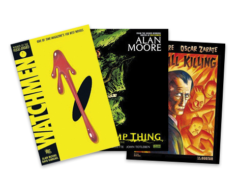 """Comic Relief  - """"When I find time to read, I like old-school graphic novels by Alan Moore."""""""