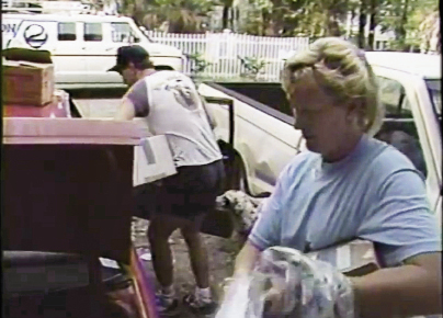 Beth and Joe Kolb of Sullivan's Island packing to evacuate