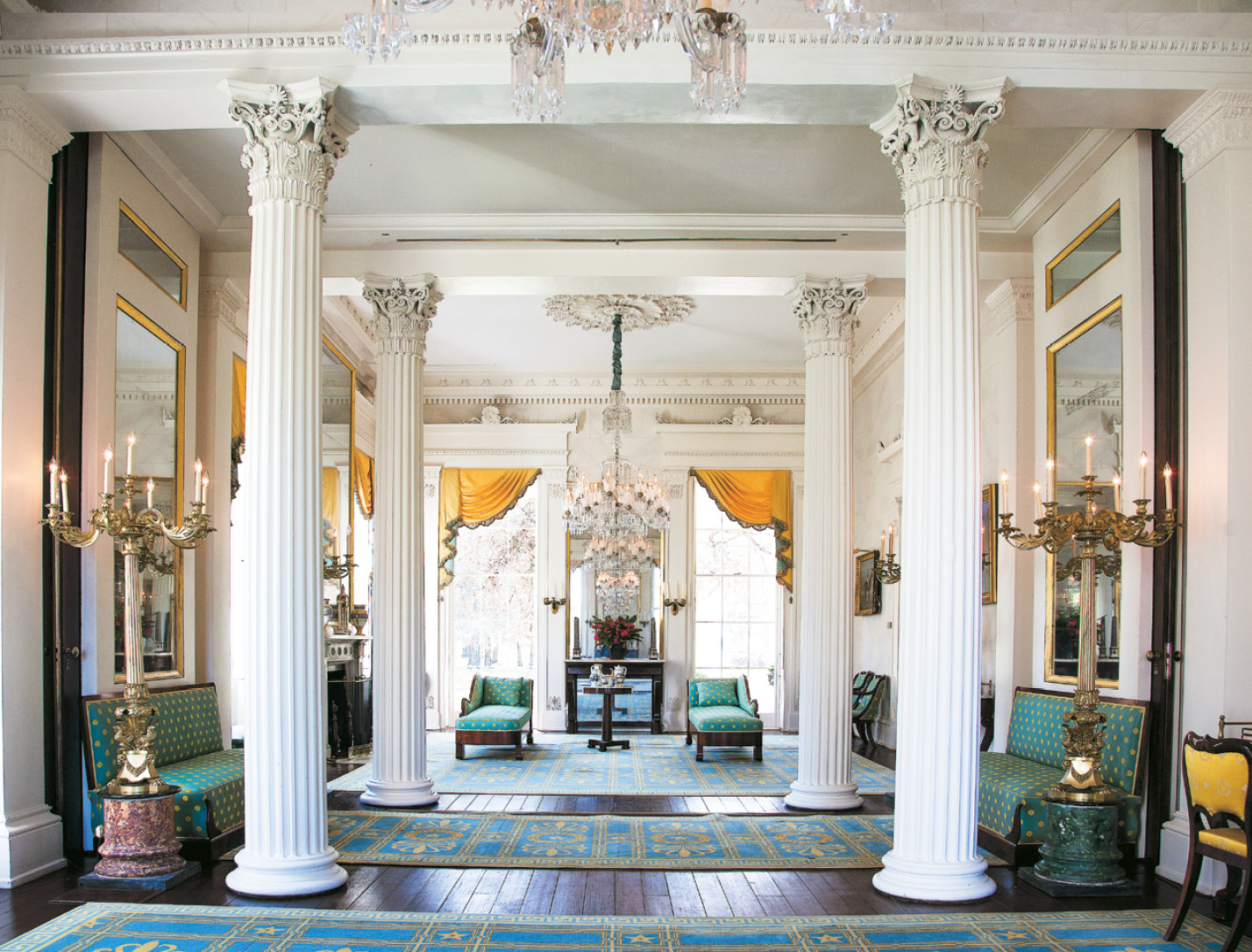 Millford's double parlors host a classical music concert on September 18 (visit classicalamericanhomes.org).