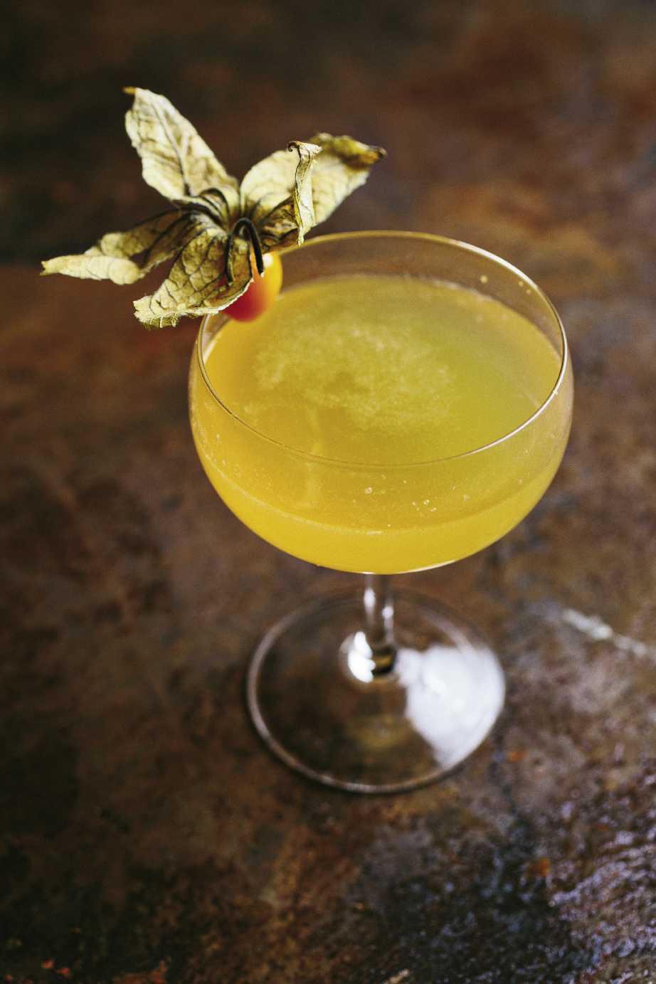 "The Gin Joint is renowned  for its craft cocktails, and bartender Jamie Bolt mixed up some special concoctions for the appreciative F&B crowd. This gorgeous cocktail, dubbed ""The Death Grip,"" is slightly tart and sweet with St. George Terroir Gin and apricot eau-de-vie. Get the recipe at charlestonmag.com/LeadingLadies."