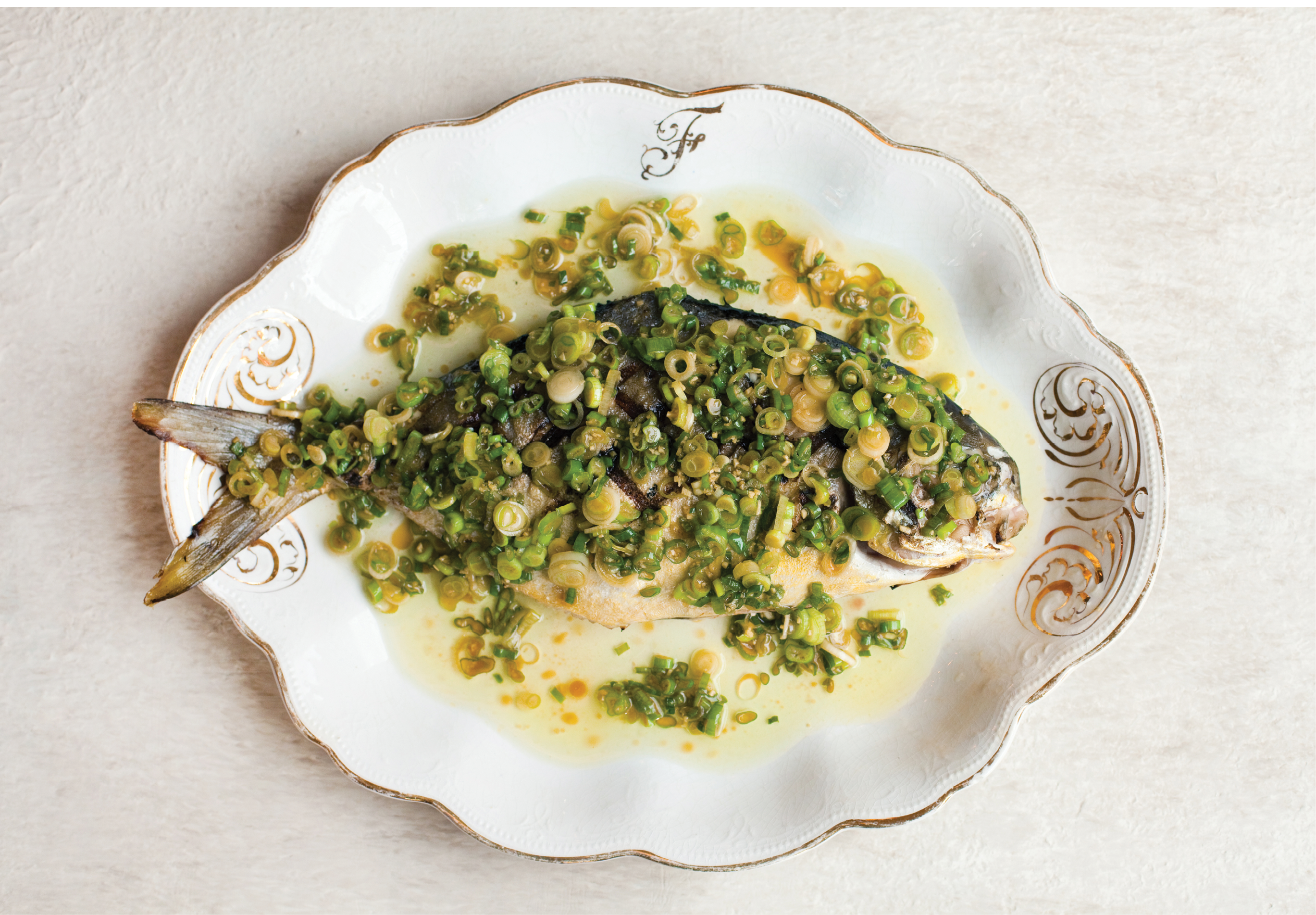 On the Menu: Marhefka's catch determines the menus at many top local restaurants: grilled pompano with ginger-scallion sauce at Chubby Fish