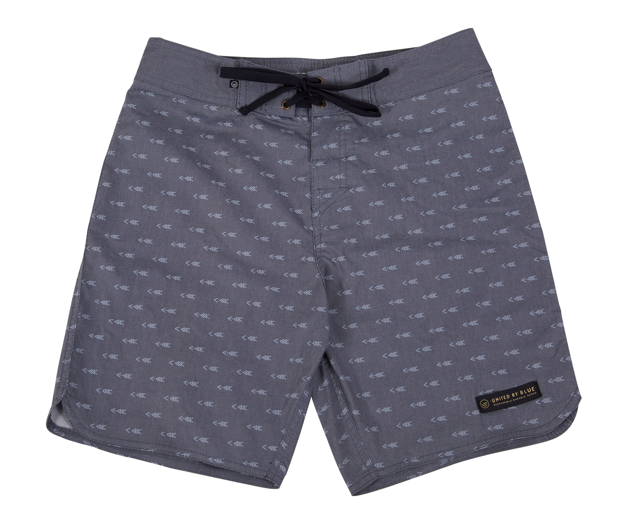 "United by Blue ""Longbow"" boardshort in navy, $68 at Hooley"