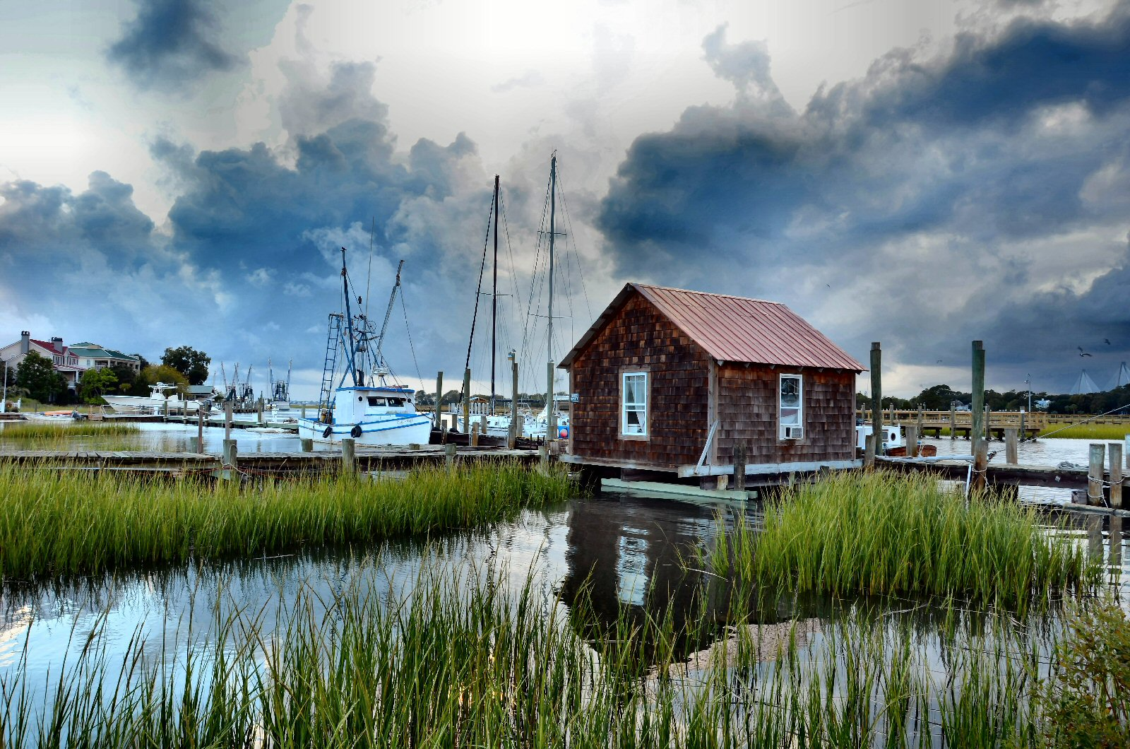 """WINNER! Amateur category: Before the Storm by Pamela Talbird; """"I was driving through Mt. Pleasant when a storm was moving in.  The sky was changing drastically so I stopped off at Shem Creek to shoot a few photos before the downpour."""""""