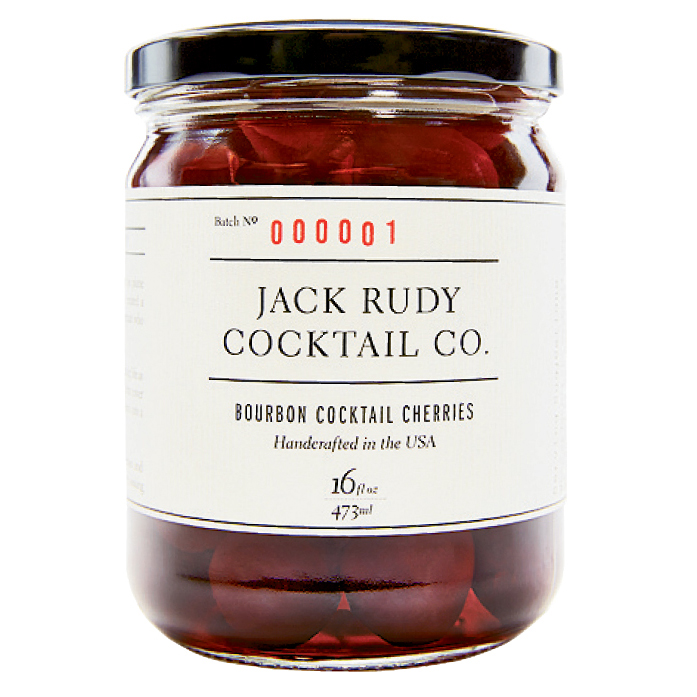 """Our newest product: cherries soaked in bourbon."" $16, jackrudycocktailco.com"