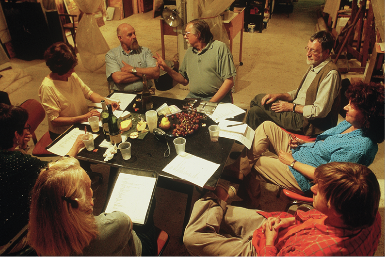 The artists meet