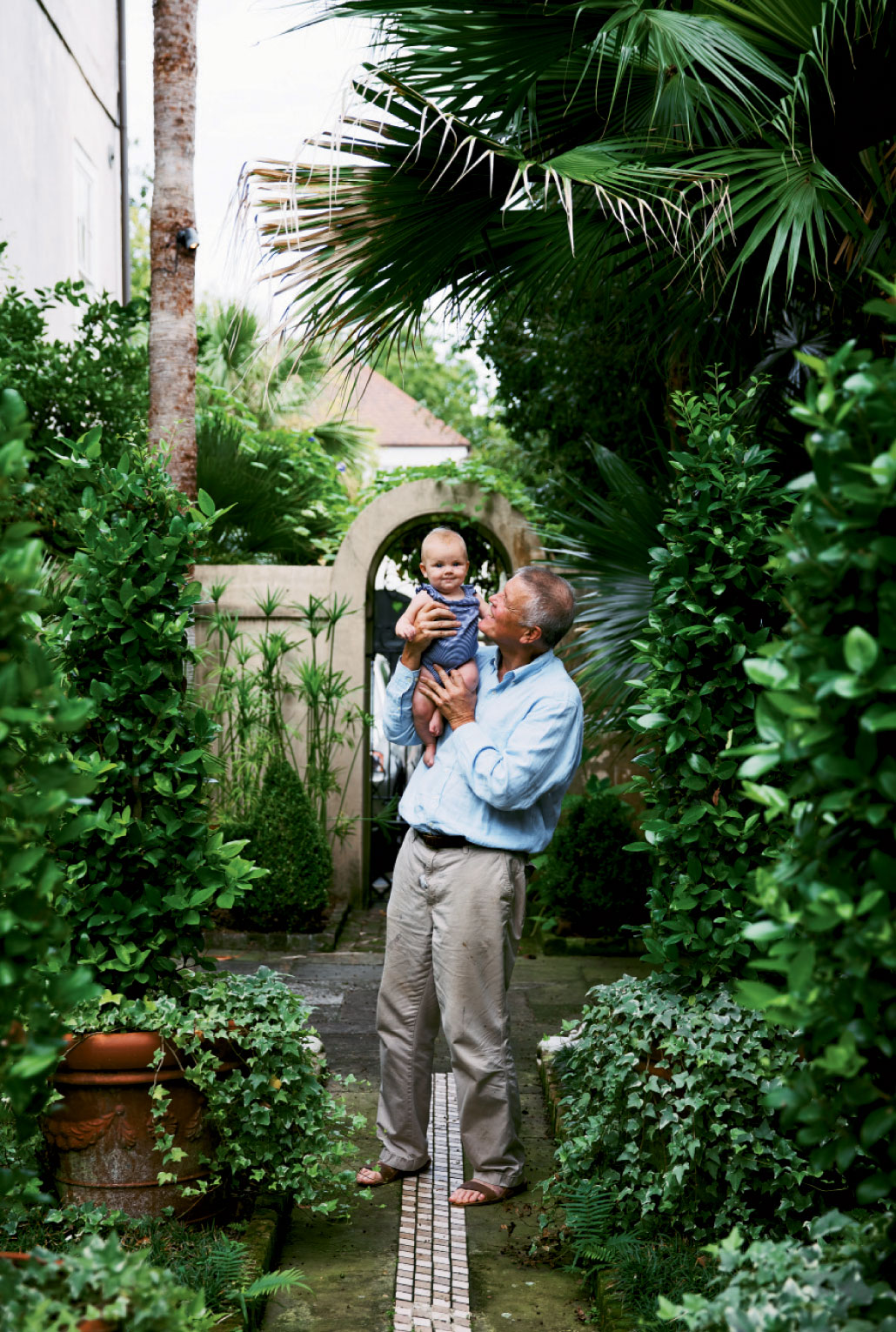 Grandbaby Scout (daughter of Gervais and husband Anthony Del Porto) brings new joy and inspiration to her painter and poet grandparents.