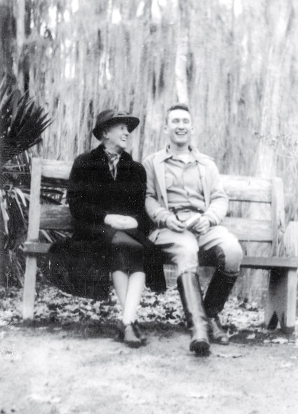 With a friend at Middleton Place circa 1915