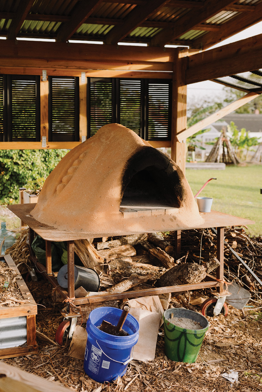From celebrating cultural roots to baking and breaking bread together (the farm's bread oven)