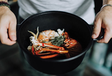 """Family Heirloom: """"My cast-iron pan got handed down to me through my dad. It's super old. It's so smooth from years and years of wear, you don't have to do anything to it."""""""