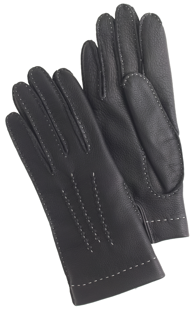 Dents black deerskin gloves with cashmere lining, $275 at J. Crew