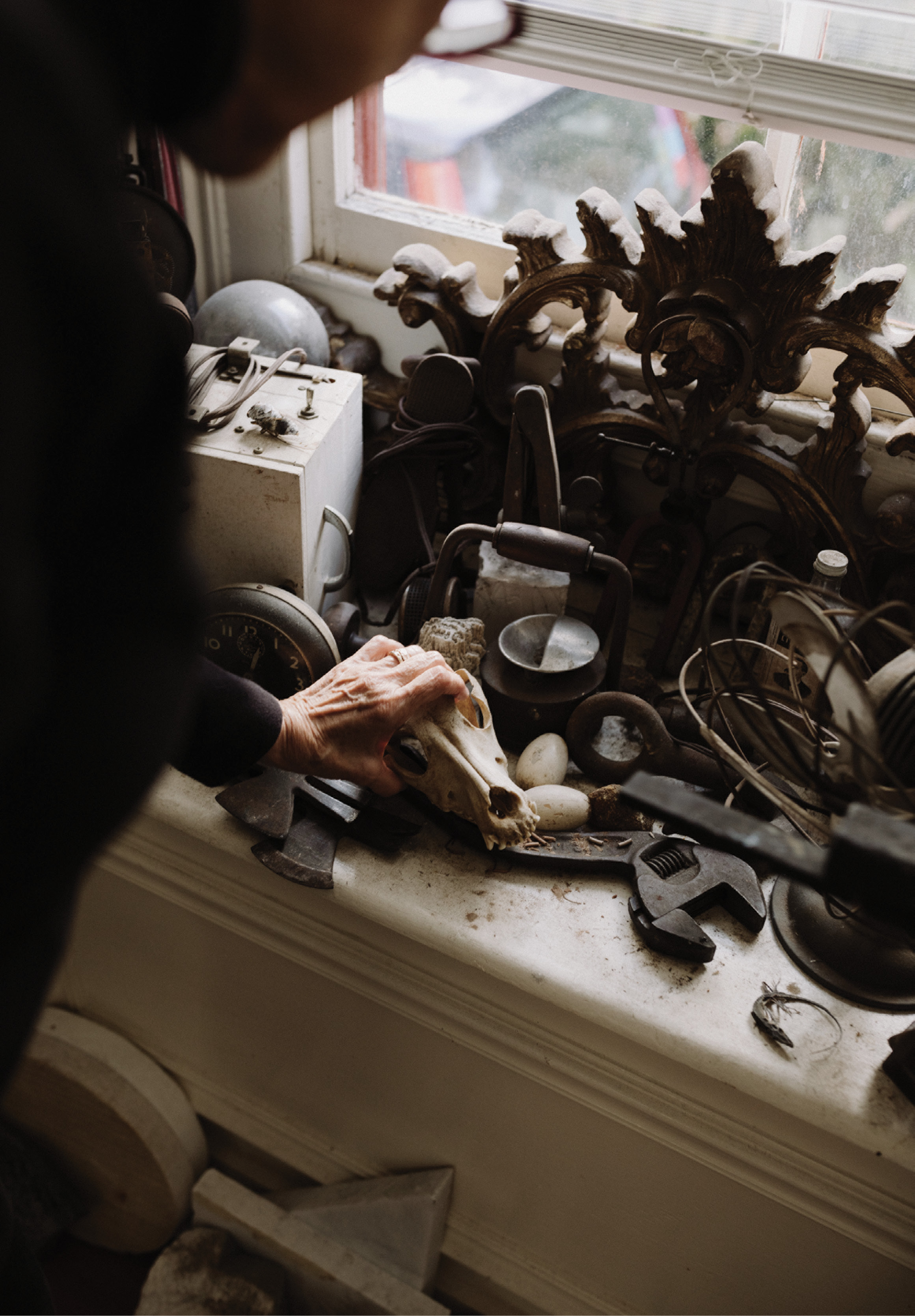 All manner of art and artifacts inspire Fantuzzo.