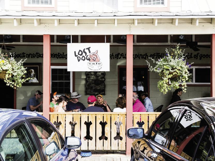 Lost Dog Cafe: 106 W. Huron Ave. Mon.-Sat.: 6:30 a.m.-3 p.m.  & Sunday: 6:30 a.m.-2 p.m. (843) 588-9669 lostdogfollybeach.com