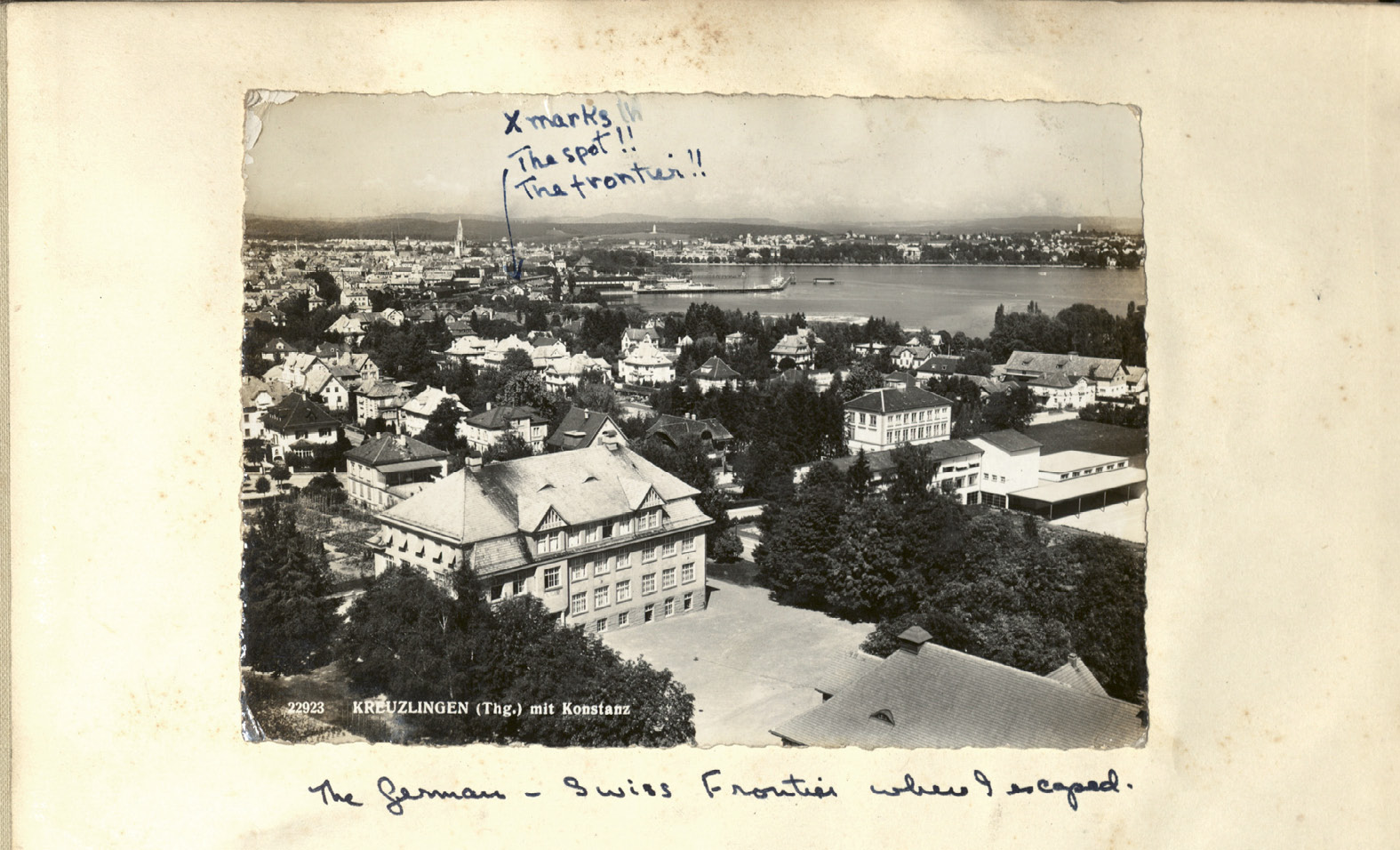Kreuzlingen, the Swiss border town where Gertie escaped