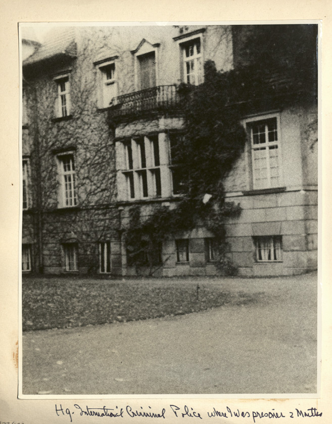 The police headquarters in Wansee, where she was held in November and December 1944