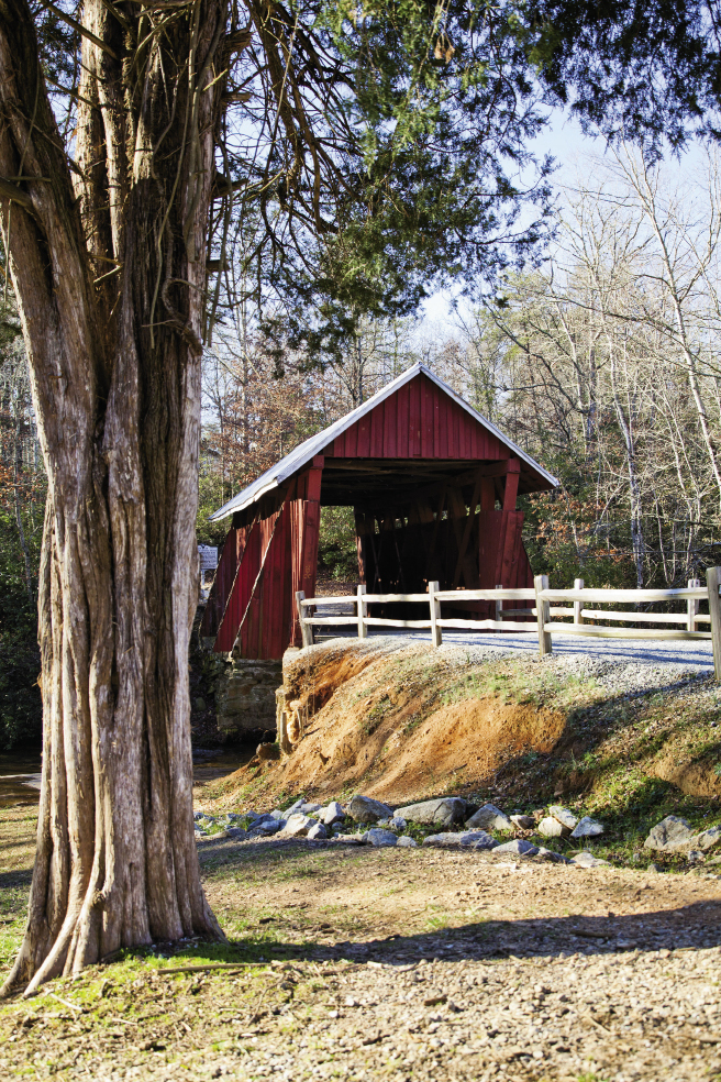 On a leisurely  Upstate drive, it's possible to see three or four scenic bridges in an afternoon. That's Campbell's Covered Bridge in northeastern Greenville County.