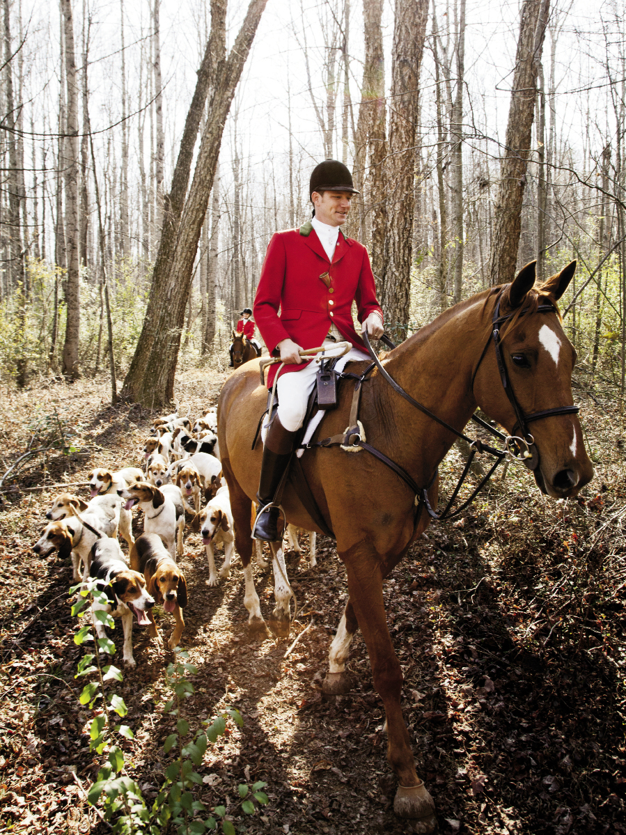 Dressed to Ride: For a winter day's fox hunt in the woods and farm fields near Landrum, South Carolina.