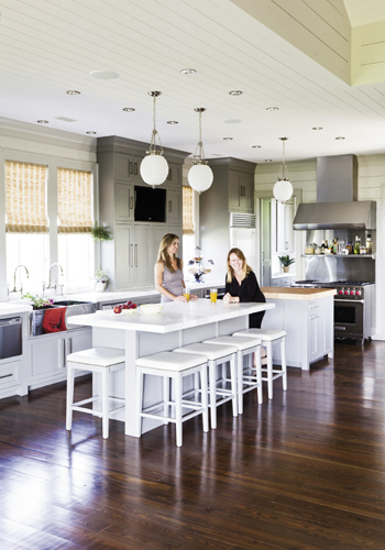 Homeowner Manda Moore  Teamed up with interior designer LuAnn McCants to streamline the structure to better fit her family.
