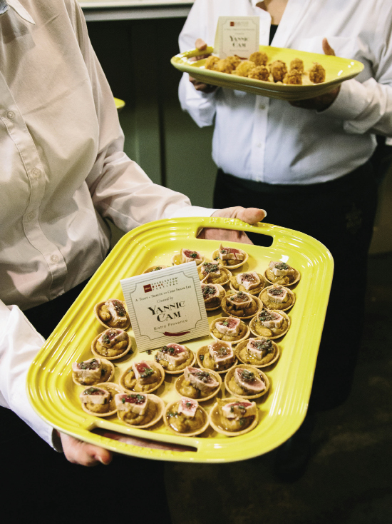 Yannick Cam, for whom Lee worked at Le Pavillon in D.C., was in attendance and even prepared appetizers, including these tuna tartelettes.