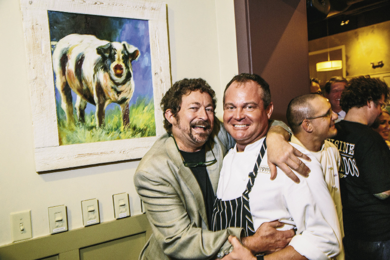 "Lee with Graham Dailey (Peninsula Grill), who worked at SNOB for a few years and was, according to Lee, ""a badass line cook who had smarts and ambition;"""