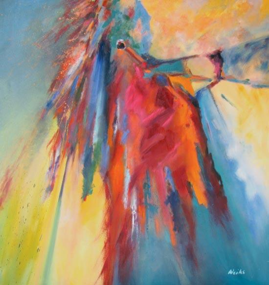 """The Shaman, 1992, 52"""" x 48"""", oil on canvas"""