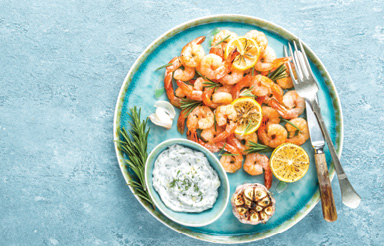 "Kitchen Confession: ""If asked, 'What's for dinner?' I usually answer, 'Reservations.' Shrimp tastes better when someone else is cooking."""
