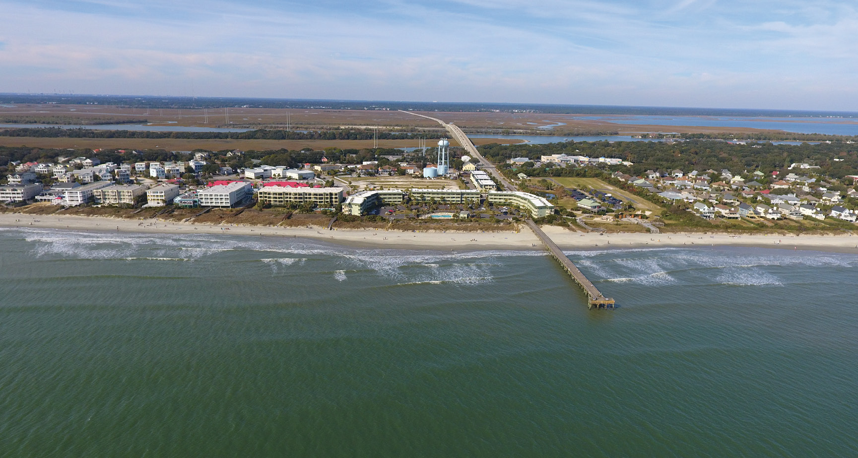 Front Beach Isle of Palms and the pier in 2017