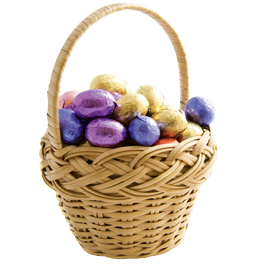 "Every Easter: ""I always get a big Easter basket from my mom. She puts less chocolate in it now because she figures I eat enough of it."""