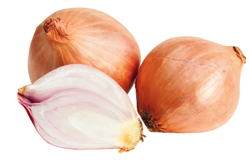 """Shallots have more bite than onions and can go in everything from vinaigrette to pan sauce,"" he notes. Market price, Harris Teeter"