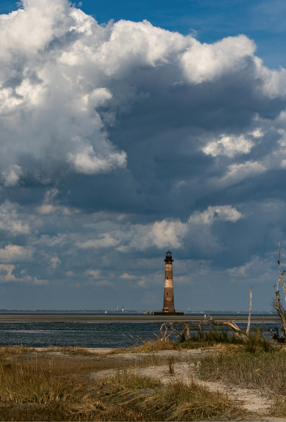 Located at the northeastern tip of Folly, the Charleston County Parks-maintained Lighthouse Inlet Heritage Preserve is a great vantage point for viewing the Morris Island Lighthouse.