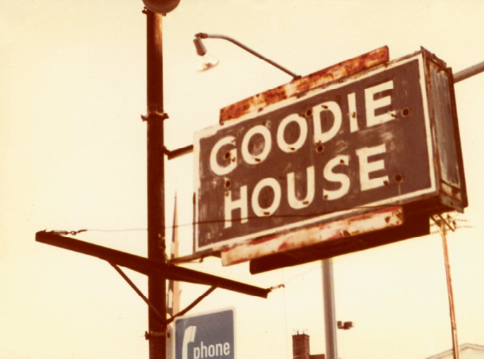 The Goodie House sign