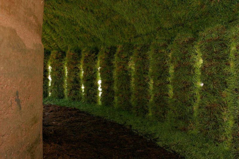 Inside the labyrinth; image courtesy of Herb Parker