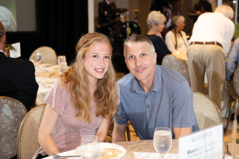 Bethany Lawrence with her dad, Mark