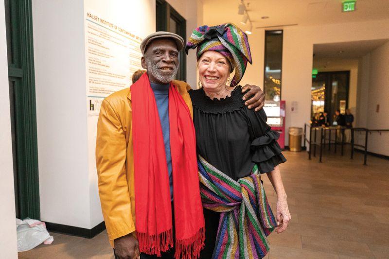 Dr. Ade Ofunniyin and Gretchen Barbatsis