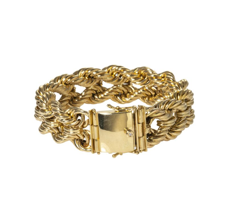 "14K yellow-gold ""Club Bracelet,"" $6,700 at Croghan's Jewel Box"