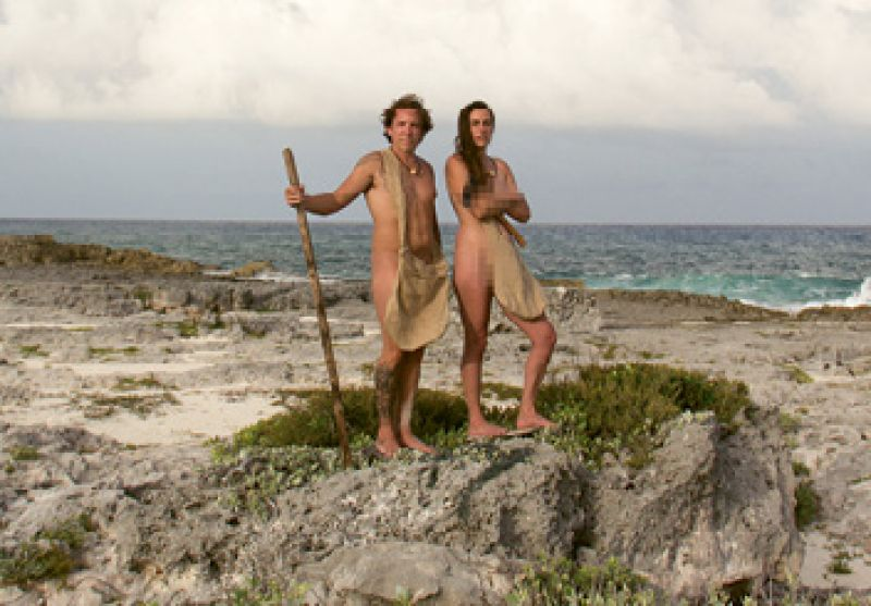 """Guilty Pleasure:  """"Discovery Channel's Naked and Afraid throws a man and woman into a remote place with nothing, and they try to survive 21 days."""""""