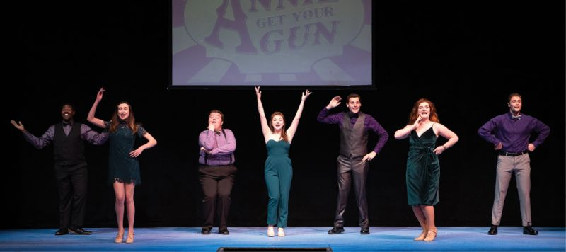 The theatre group's professional resident acting company performing classic Broadway songs