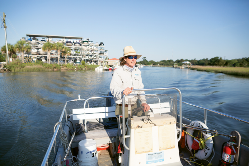 Chris Crolley of outdoor adventure outfitter Coastal Expeditions believes the creek is safe when everyone—paddlers, cruisers, and captains—understands and obeys the rules of the waterway.