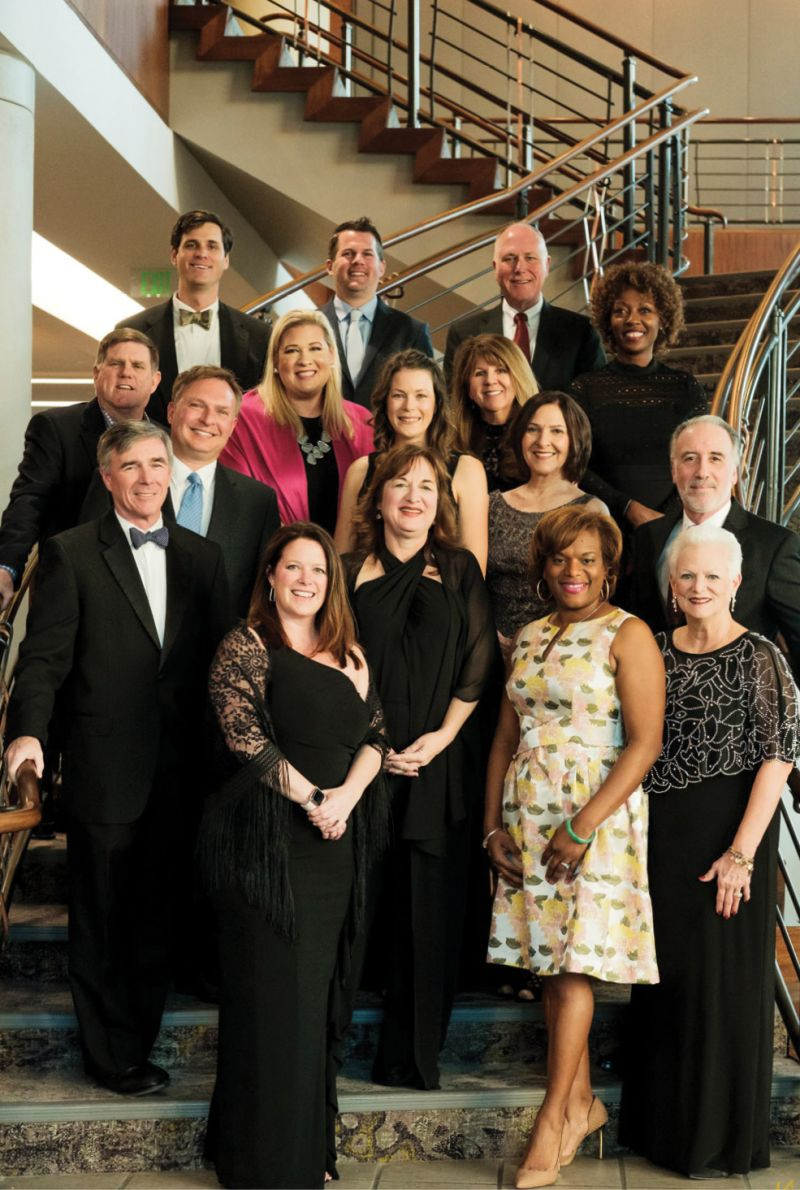 The Lowcountry Food Bank board of directors with LCFB President and CEO Pat Walker (bottom right)