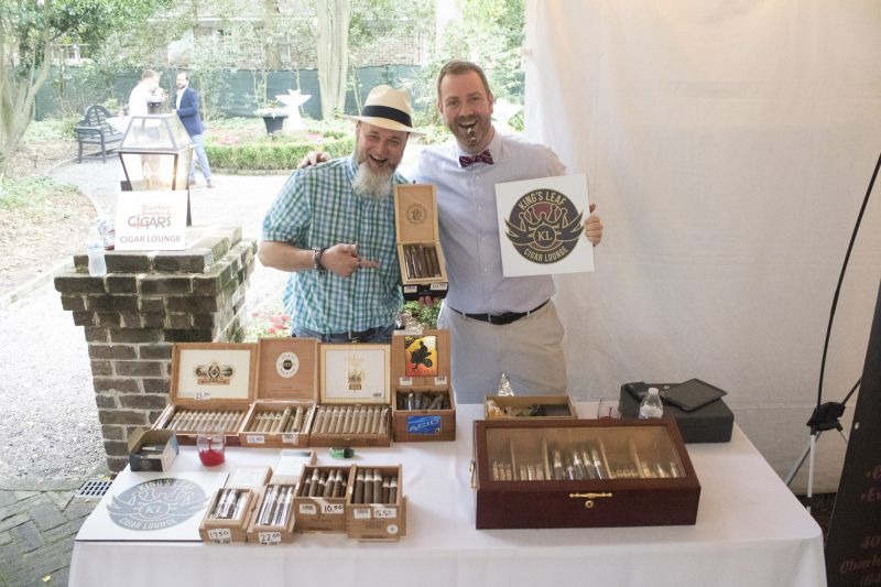 """King's Leaf Cigar Lounge """"bartenders"""" Miles Foster and Brian Lucier"""