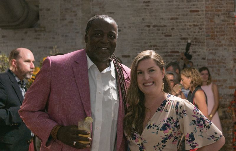 Harold Singletary and Lauren Gellatly