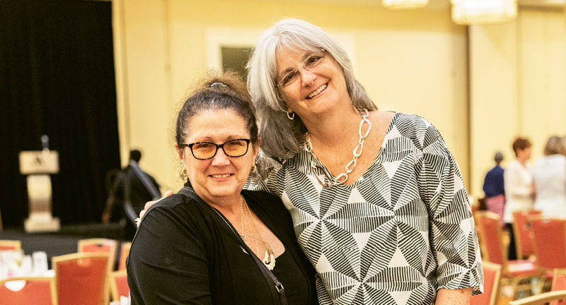 Karen McMillan and CEO Kathy Papadimitriou