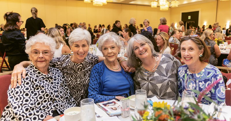 Ruthie Mallard, Berta Freeman, Joyce Darby, Kathy Papadimitriou, and Mac Langley