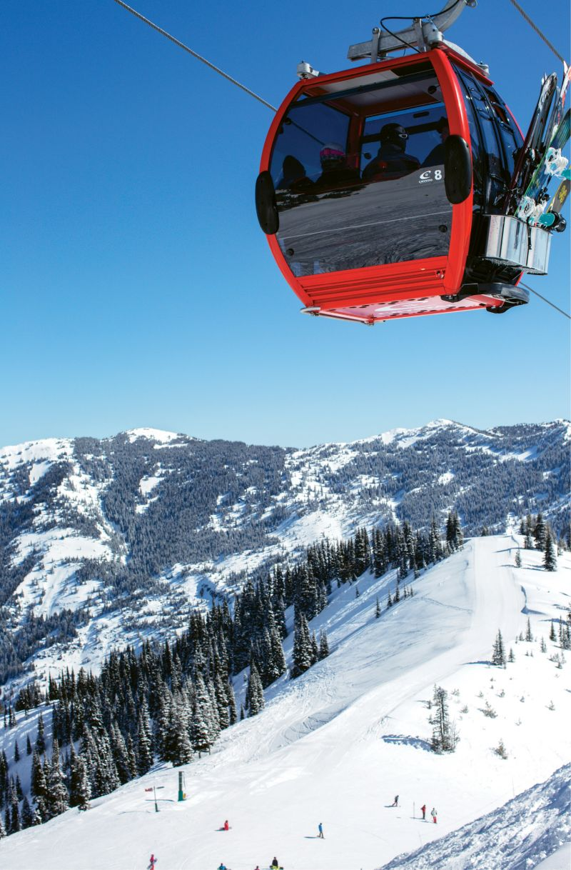 Old-School Style: The comfortable gondola is as fancy as Crystal Mountain gets. The runs are steep and thrilling, and the after-hours scene feels like stepping into the best of ski culture from a bygone era.